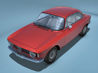 Alfa Romeo Giulia GTA 3D Model