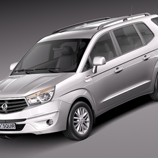 SsangYong Rodius Turismo 2014 3D Model