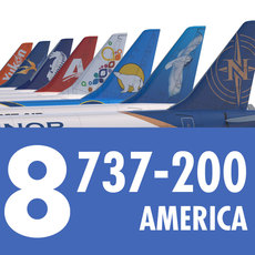 737 200 Collection. Eight American Airlines 3D Model