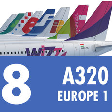 Airbus A320 Collection. Eight Europe Airlines 1 3D Model
