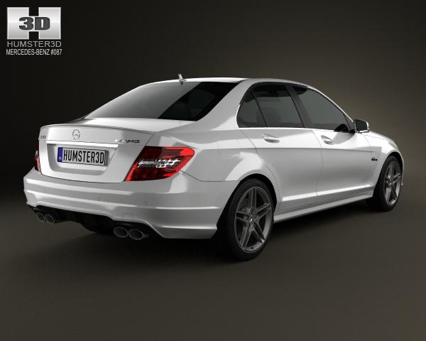Mercedes benz c class 63 amg sedan 2012 3d model for Mercedes benz sedan models