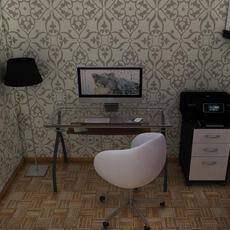 Office room 3D Model