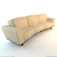 Curved Contemporary Sofa 3D Model