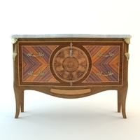 Antique Buffet Cabinet 3D Model