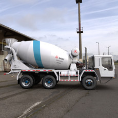 Concrete Mixer Truck 3D Model