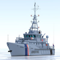 UKBA 42m Customs Cutter 3D Model