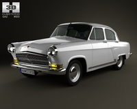GAZ 21 Volga 1962 3D Model