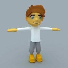 Cartoon Man or Boy Character 3D Model
