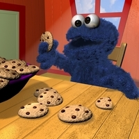 Coockies Monster RIGGED 3D Model