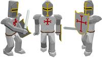 Voxel templar knight 3D Model