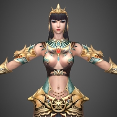 Egyptian Queen Petra 3D Model