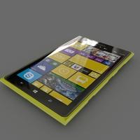 Nokia Lumia 1520 (Yellow) 3D Model
