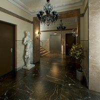 Hall Lobby decorated interior full scene 3D Model