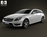 Mercedes-Benz CLS-Class 63 AMG Shooting Brake 2013 3D Model