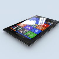 Nokia Lumia 1520 (black) 3D Model