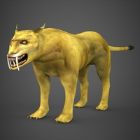 Prehistoric Tiger 3D Model