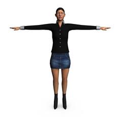 Casual Female 3D Model