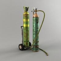 Oxygen Cylinder 3D Model