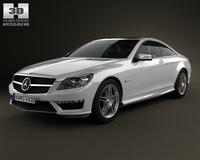 Mercedes-Benz CL-Class 65 AMG 2012 3D Model