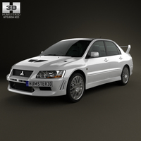 Mitsubishi Lancer Evolution 2001 3D Model