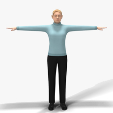 Casual Female 07 3D Model