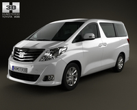 Toyota Alphard 2012 3D Model