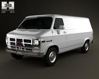 GMC Vandura Panel Van 1992 3D Model