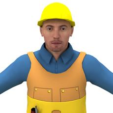 Male Worker 3D Model