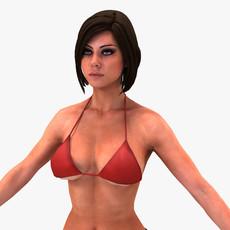 Bikini Girl 3D Model