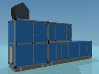 AHU - Air Handling Unit 3D Model