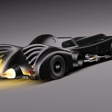 Batmobile 1989 Jet Car 3D Model