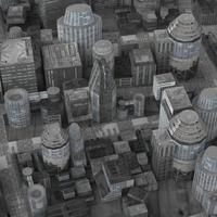 Realistic Science City 3D Model
