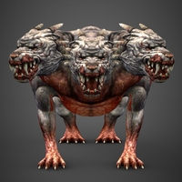 Fantasy Animal Hell Dog 3D Model