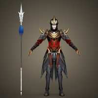 Fantasy Human King Kamura 3D Model