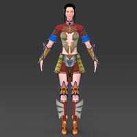 Fantasy Girl Lankini 3D Model