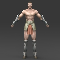 Ancient Mayan Warrior 3D Model