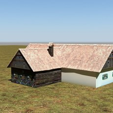 old historic house 3D Model
