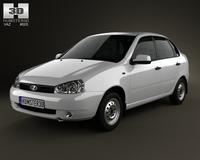 Lada Kalina (1118) sedan 2011 3D Model