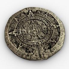 Mayan stone calendar 3D Model