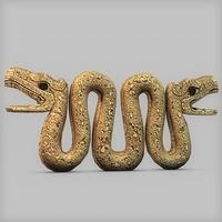 Ancient stone serpent 3D Model