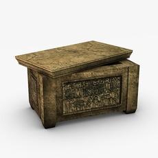 Egyptian ark storage box 3D Model