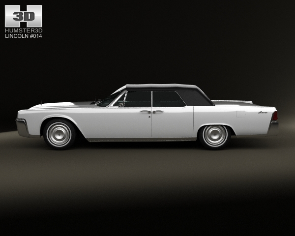lincoln continental convertible 1964 3d model. Black Bedroom Furniture Sets. Home Design Ideas