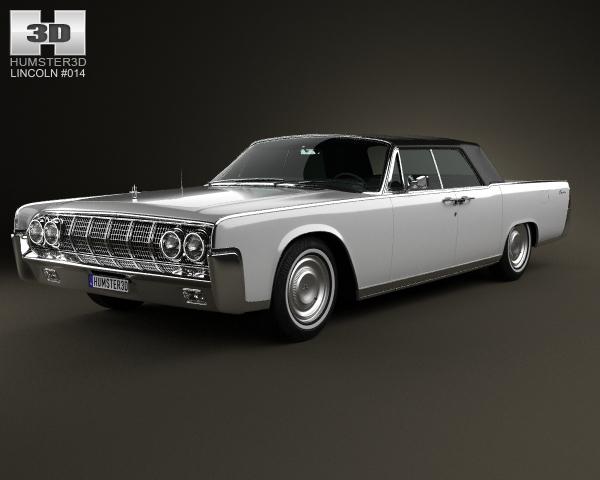 lincoln continental convertible 1964 3d model. Black Bedroom Furniture Sets. Home Design Ideas