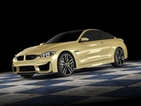 BMW M4 coupe concept STD MAT 3D Model
