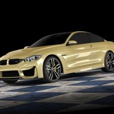 BMW M4 coupe concept STD MAT 3D Model