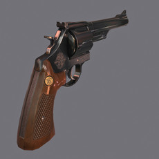 Revolver 44 Magnum Game Ready (PBR) Smith & Wesson Model 29 3D Model