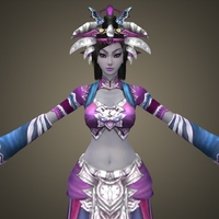 Fantasy Character Queen Balina 3D Model