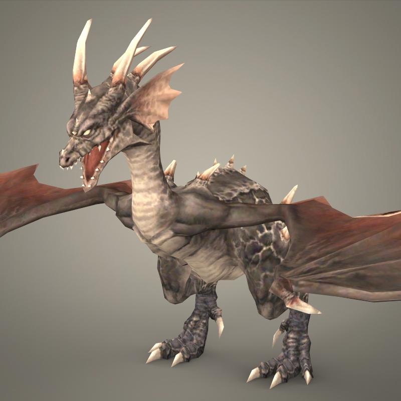 Fantasy Young Dragon 3D Model