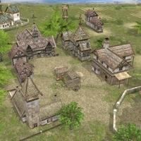 Realistic Village Scene 3D Model