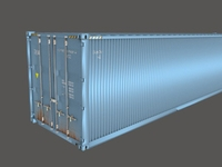 Shipping Container 40 feet box 3D Model
